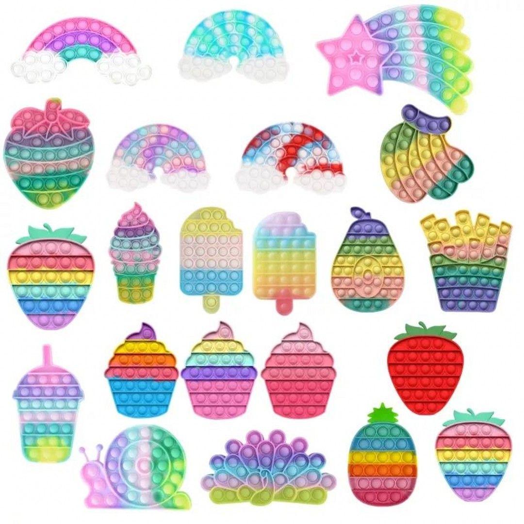 24 ore di spedizione !! TAKE Dye Push Fidget Giocattoli Rainbow Bubble Sensory Autism Special Needs Stress Reliever Squeeze Giocattolo per bambini Famiglia DHL