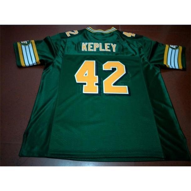 Benutzerdefinierte 009 Jugendfrauen Vintage Edmonton Eskimos # 42 Dan Kepley Football Jersey Größe S-6XL oder benutzerdefinierte Name oder Nummer Jersey