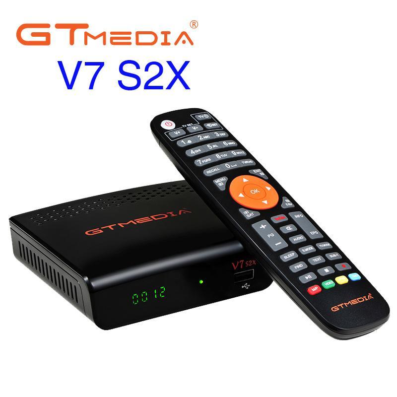 GTMedia Freesat V7 S2X Set Top Box HD FTA Digital Satellite TV Receiver DVB-S2/S Support BissKey 1080P Upgrade V7S no Wifi Antenna