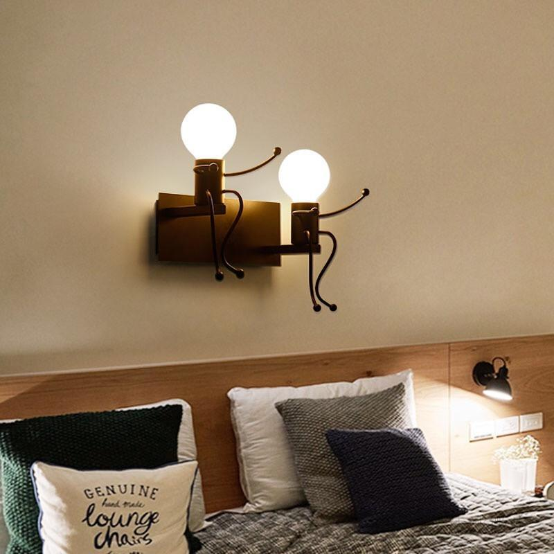 Wall Lights For Home Kids Room Light Bedside Living Nordic Minimalist Decor Art Deco Bedroom Lamp Decoration Lamps