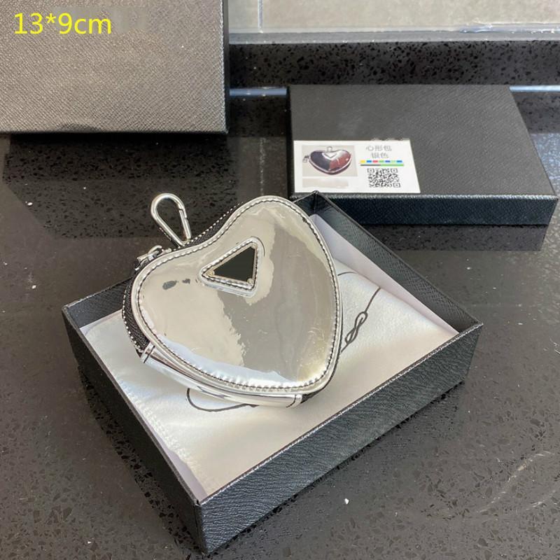 2021 luxurys mini bolsa de coração designers luxurys moedas bolsas mulheres amor key carteiras zíper meninas de couro mini pequenas bolsas de mudança com caixa