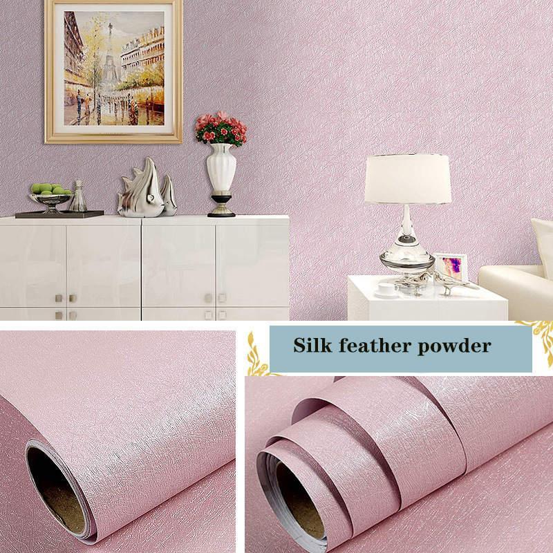 Pegatinas de pared Patrón de lino Impermeable impermeable PVC autoadhesivo Papel pintado Instantáneo Multicolor Pegatina Dormitorio Sala de estar Tamaño 10m * 45cm
