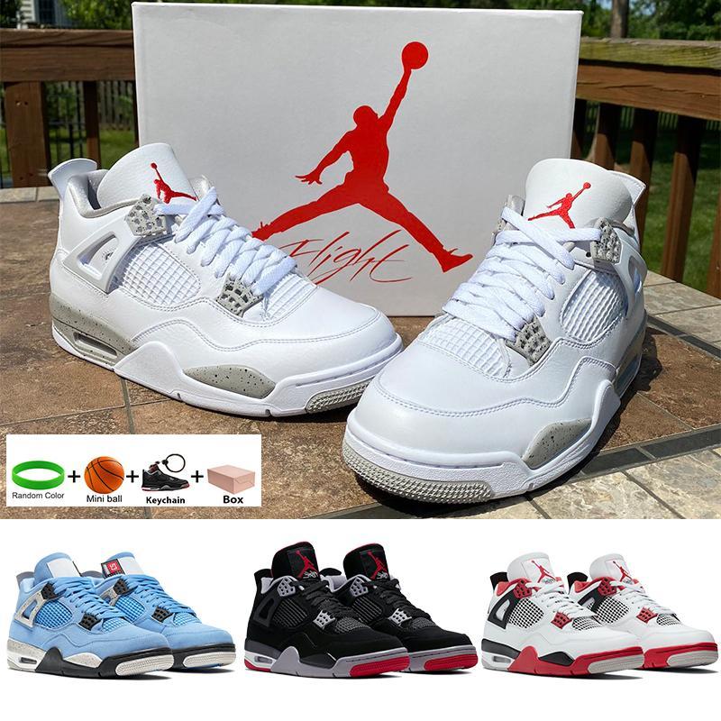 Air jordan 4 jumpman университет синий белый x парус проводящий 4s баскетбольные туфли черные кошачьи морские звезды париж огонь красный неоновый мужчина женщин кроссовки кроссовки с коробкой