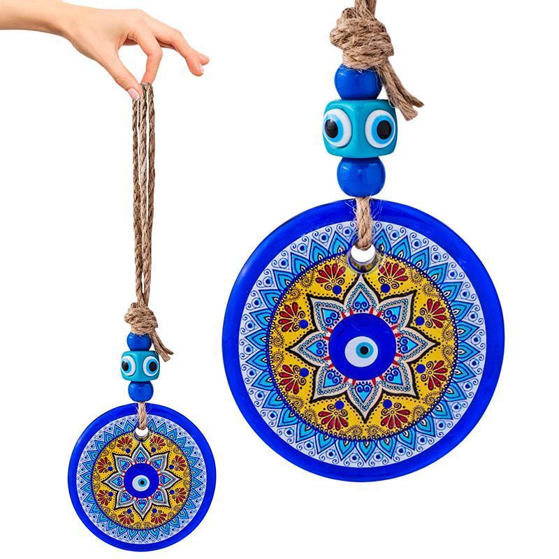 Декоративные объекты статуэтки HD стекло синий злой глаз кулон FENGSHUI турецкие низарные бусины настенные украшения для дома для дома автомобиль гостиной