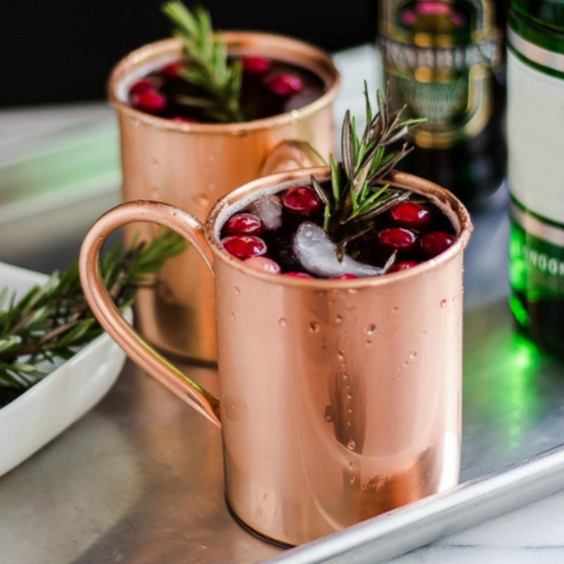 Mugs 420/500ML Moscow Mule Copper Mug Stainless Steel Durable Solid Cocktail Cup For Restaurant Bar Drinkware Party Kitchen