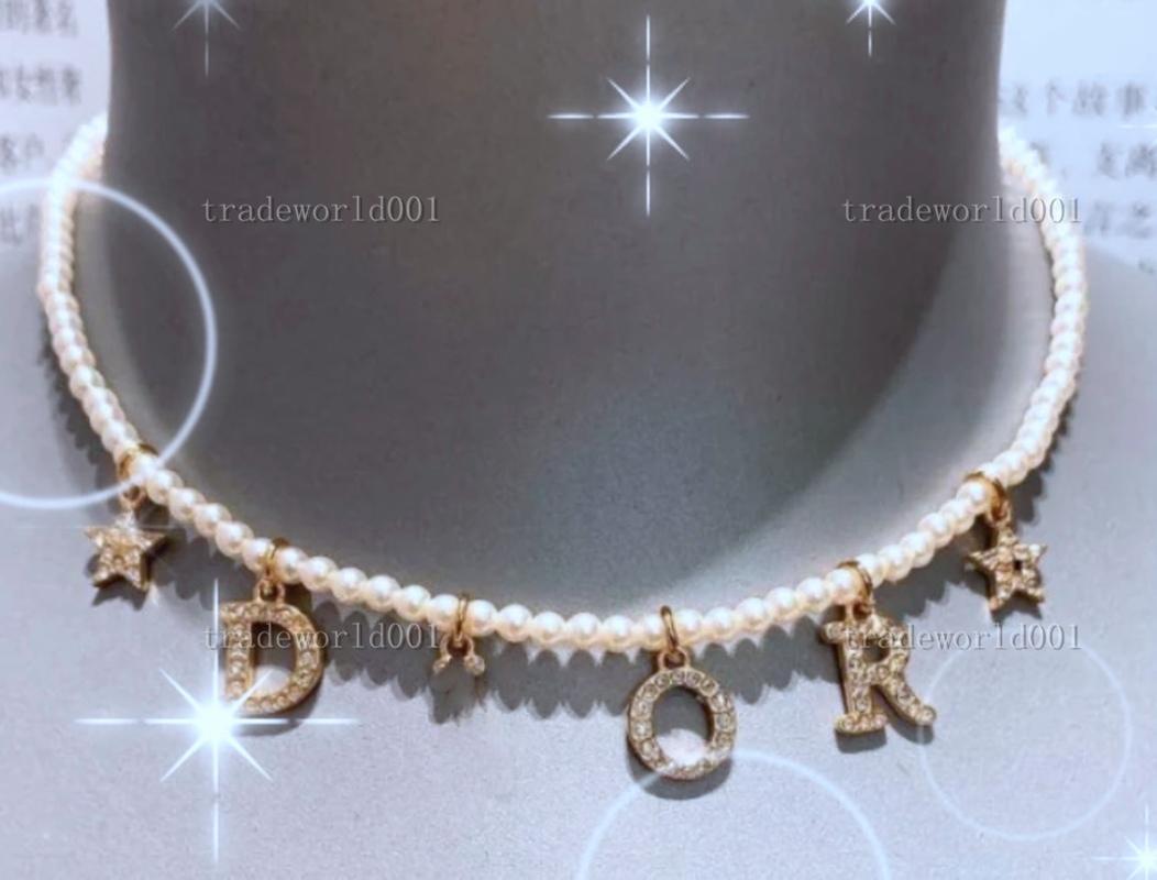 Dior necklace Hip Hop Tennis Collana Bling Bianco Zircone Catene Gioielli Mens Donne Fashion 5mm Argento Gold Catena Collane