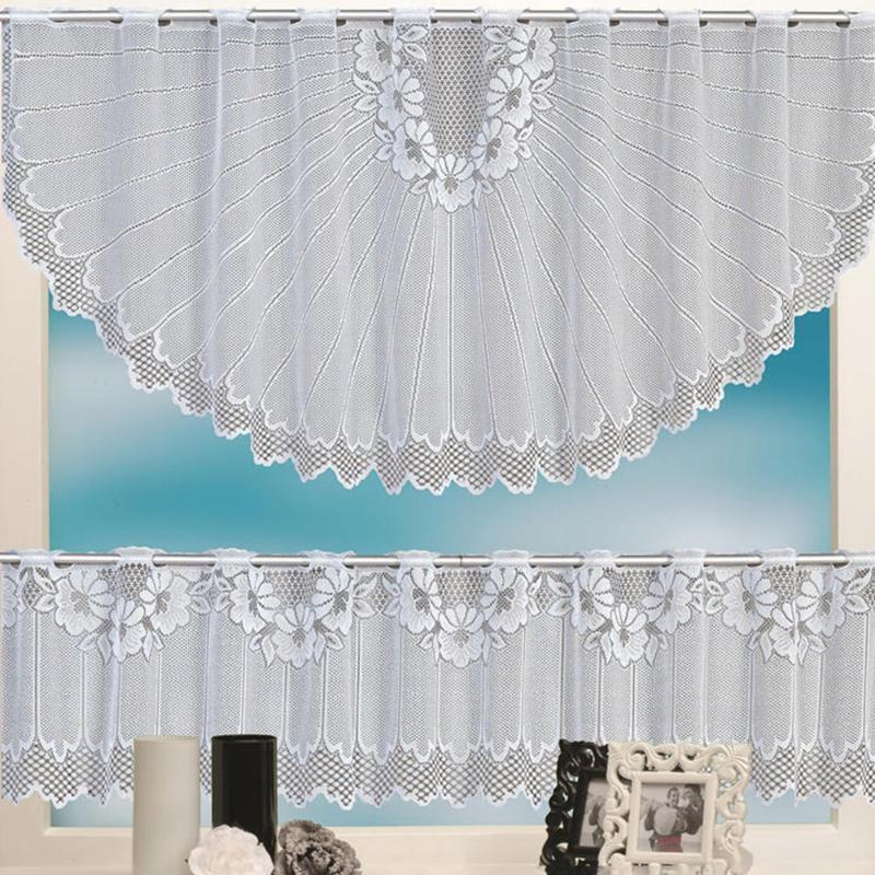 Vorhang Vorhänge 2 stücke europäische weiße spitze transluzent kaffee café fenster schleife set küche esszimmer schlafzimmer vorhänge wohnkultur # 35