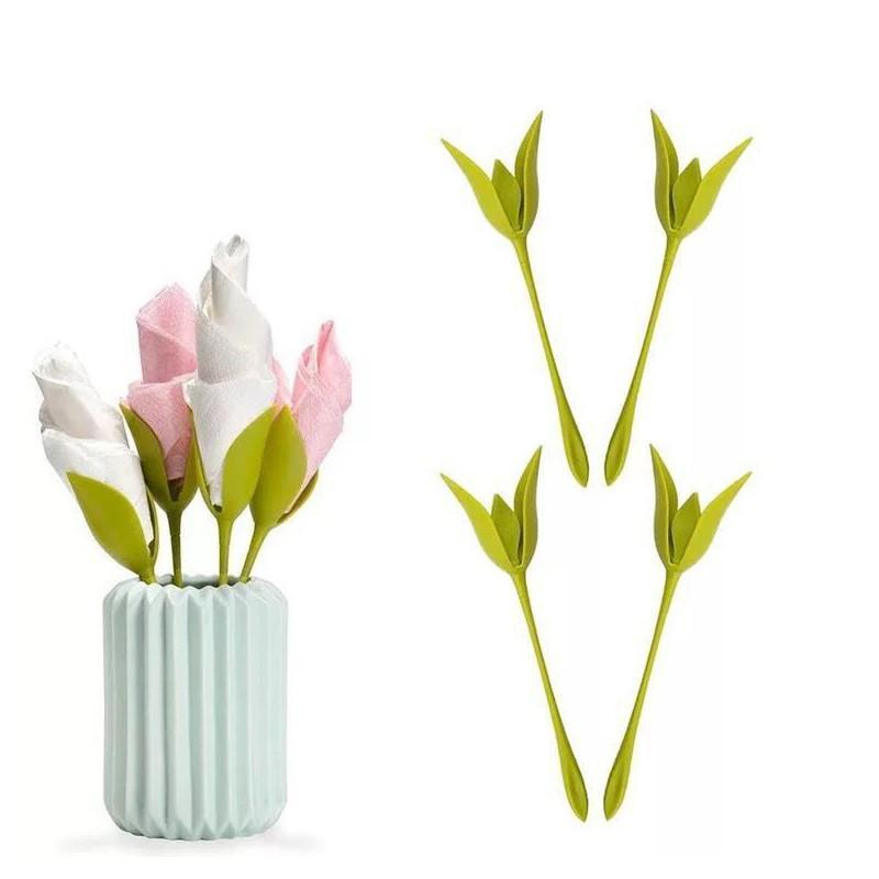 8 stücke Serviette Halter Haushaltsfindung Papier Tuch Werkzeug Rolle Blume Serviette Dekoration Tischarrangements Ringe