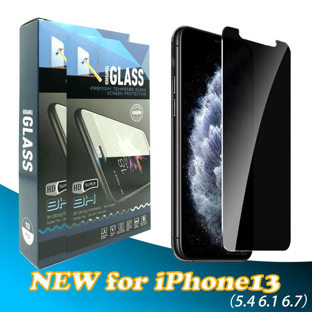 Privacy Anti-spy Anti-glare Tempered Glass Screen Protector for iPhone 13 12 11 Pro Max XR XS X 6 7 8 Plus With Retail Package