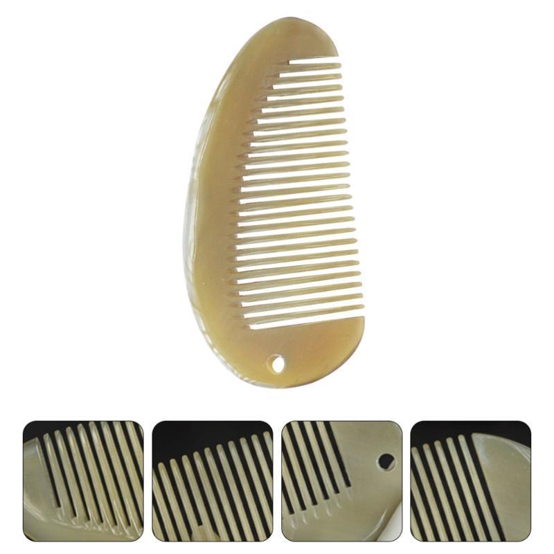 Pinceaux de cheveux 1pc peigne anti-statique yak corne peignes pour la tête