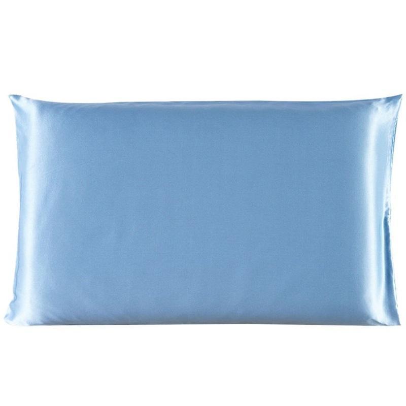 20 * 26 pulgadas de seda almohada de satén 12 colores de seda de hielo para la piel para la piel con cremallera con cremallera con cremallera con sobrem de cara de doble cara Caja de almohada 437 V2