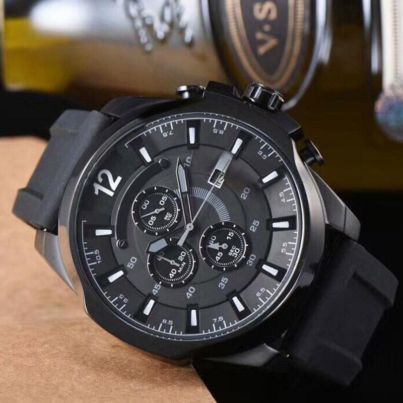 Montre De Luxe Mens Zegarki Japonia Kwarcowy Chronograf Ruch Ruch Ss Moda Męski Mężczyźni Wojskowy Sports Watch Relogio Masculino Reloj Hombre