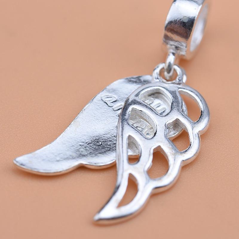 Fit Original Pandora Charm Bractelet 100% 925 серебряный ангел крылья бабушка папа мама сестринская бусина изготовления женщин памяти Berloque 2020 Q0225 1034 Q2