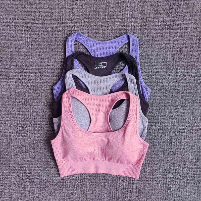 Set Fitness Women Sportswear Ropa inconsútil Gimnasio Yoga Ejecutar leggings Entrenamiento Pantalones Acolchados Bras 2 Piezas SP