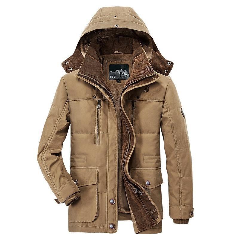 Jaquetas masculinas inverno homens casaco quente 2021 moda lã casaco com capuz engrossar parkas outwear chapéu casacos destacáveis