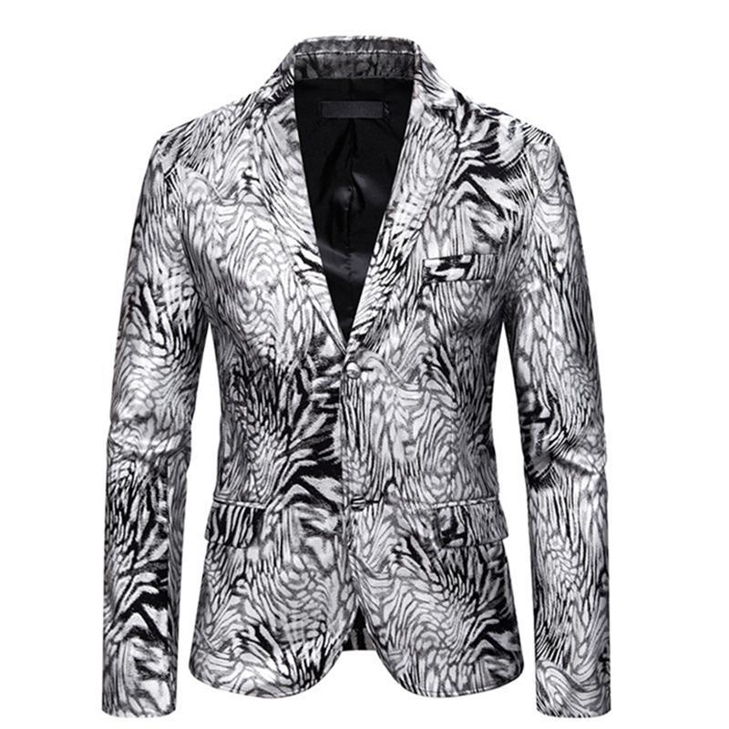 2021 NOUVEAU NOUVEAU Homme DJ Club Stage Two Button Homme Mariage Hommes Casual Slim Fit Formel Costume Blazer