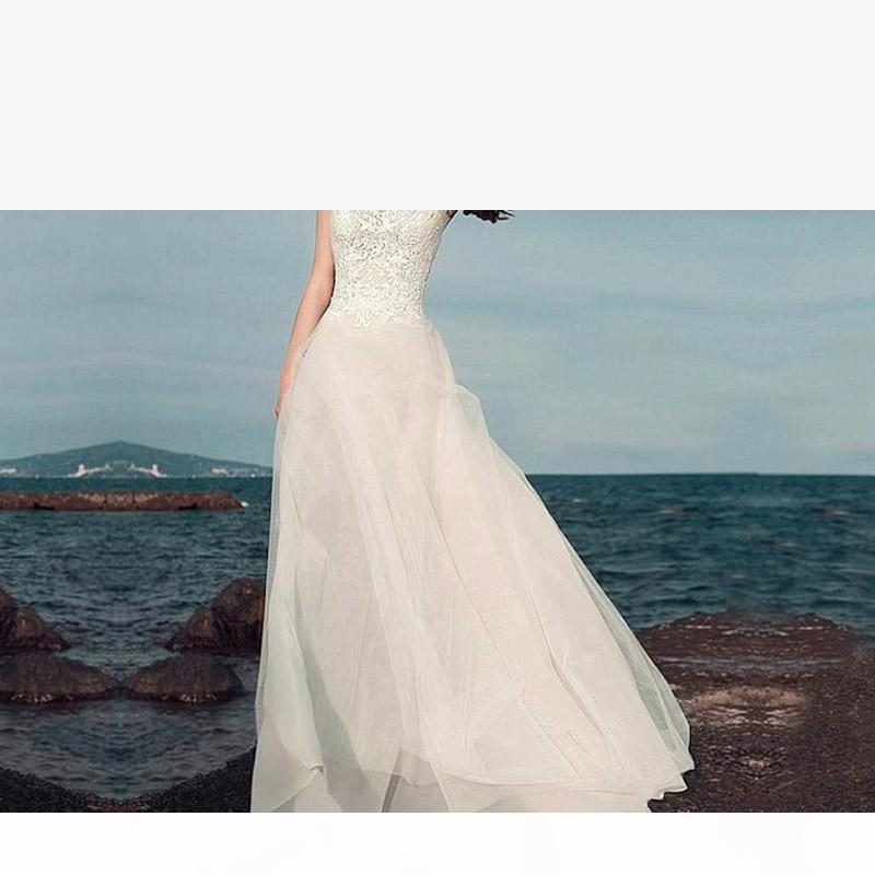 Boho Lace Appliques Wedding Dresses 2020 New Bohemian Bridal Gowns with Cap Sleeves and V Neck Detachable Skirt Elegant A-Line Bridal Gowns