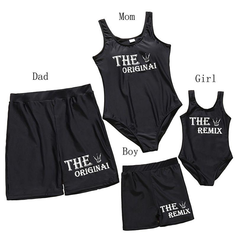 Estate famiglia abbinata costume da bagno madre costume da bagno mamma e me bikini vestiti padre mamma figlia figlio bagno costume da bagno 210417