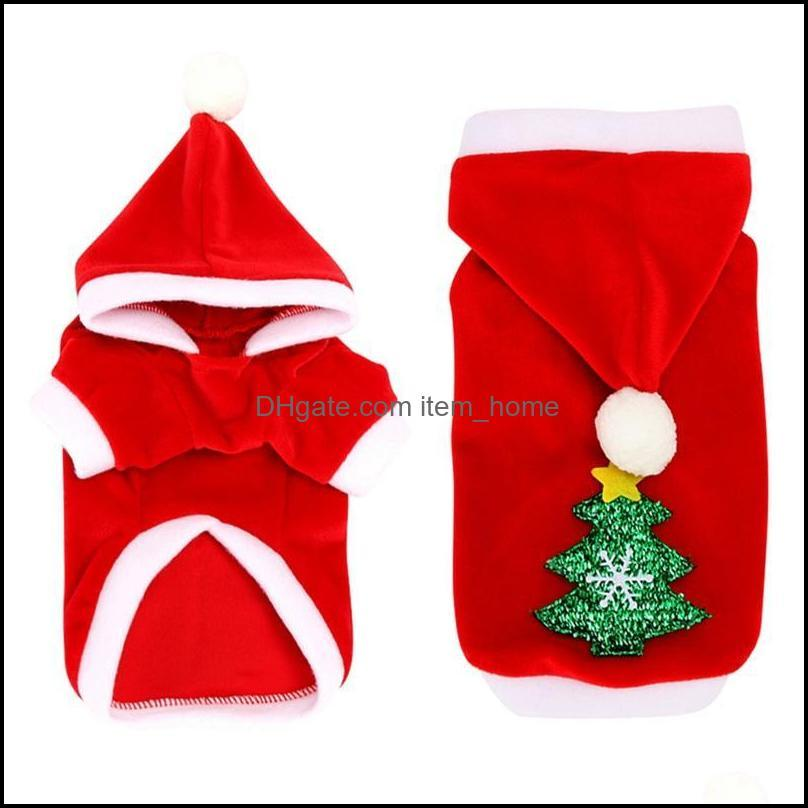 Dog Supplies Home & Gardendog Apparel Dogs Clothes Red Warm Winter Coat Clothing Santa Costume Hood Puppy Outfit For Hoodies Pet Cloth Drop