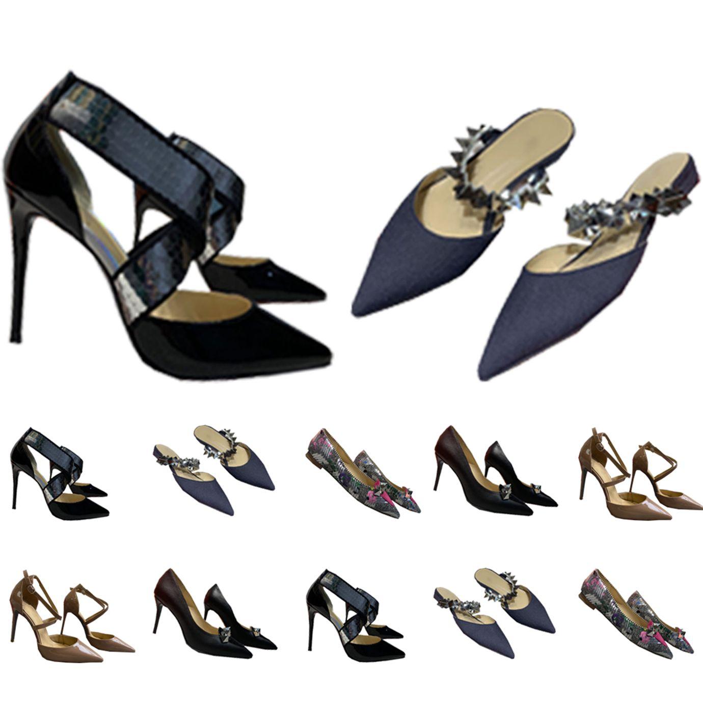 Sandálias Mulheres Vestido Sapatos Vermelho Bottom High Saltos Mulheres Luxurys Designers Genuíno Bombas de Couro Senhora Bottoms com caixa 032202