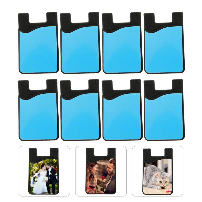 10 pcs sublimação em branco cartões de silicone manga diy titular personalizado notas de costura ferramentas