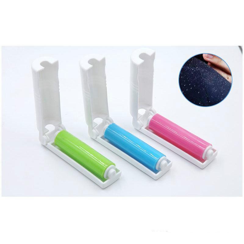 Портативные липкие моющиеся линии роликов с крышкой для шерстяных листов для волос Одиночный чистящий пылесборник для удаления пыли ZZE6198