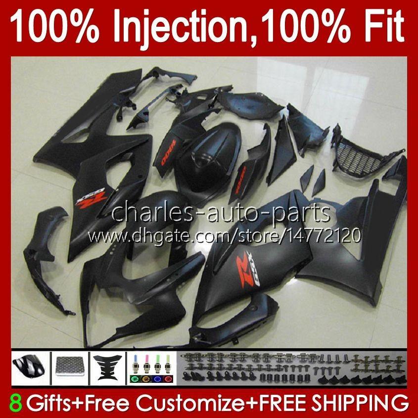 Carrocería para Suzuki Matte Black Hot GSXR-1000 K5 GSXR1000 05 06 Kit de cuerpo 11HC.95 GSX R1000 GSXR 1000 2005 2006 GSX-R1000 05 06 Carreyo + Cowl