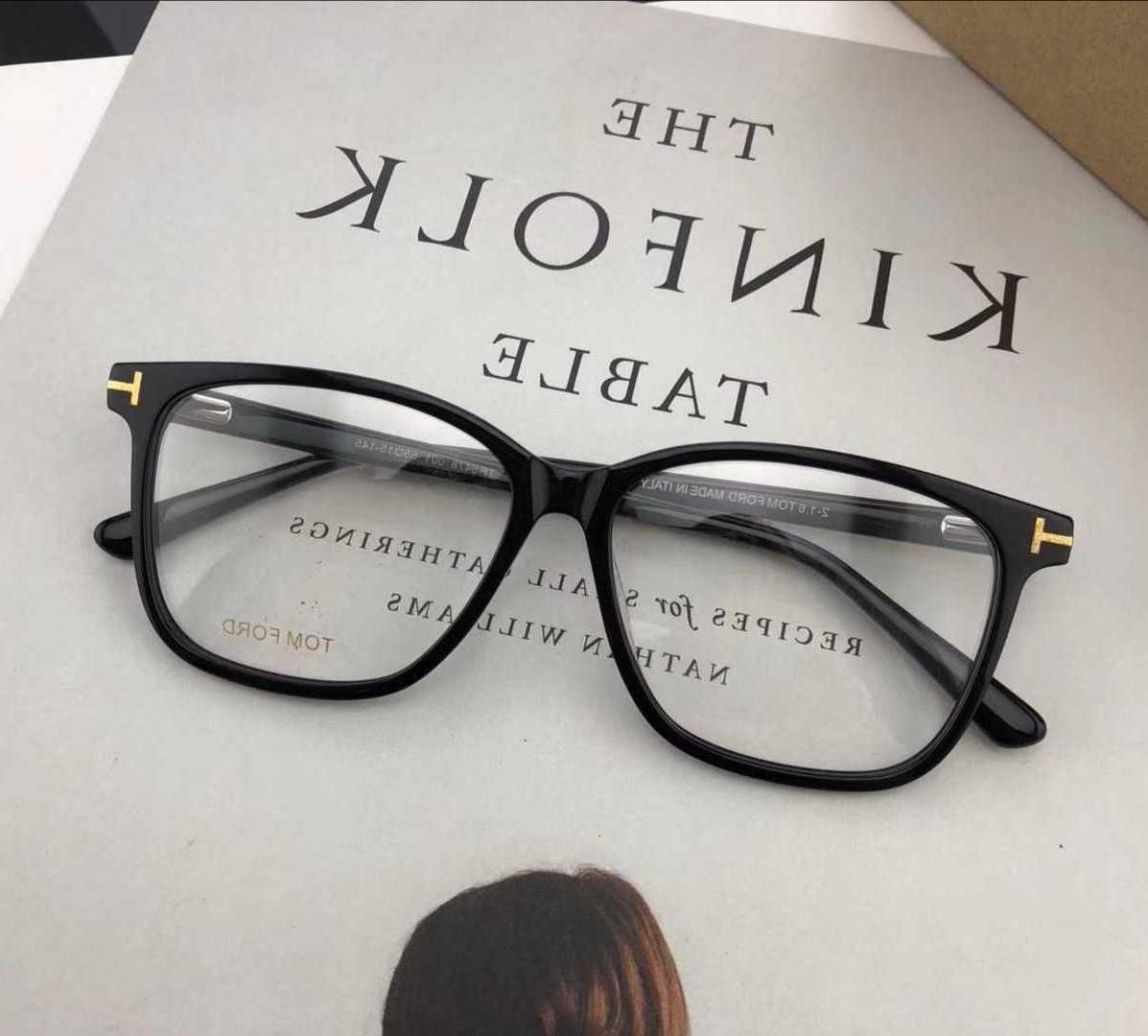 Ford Plate Brillen Einfache Schwarze Männer Business Myopia Frame TF5478