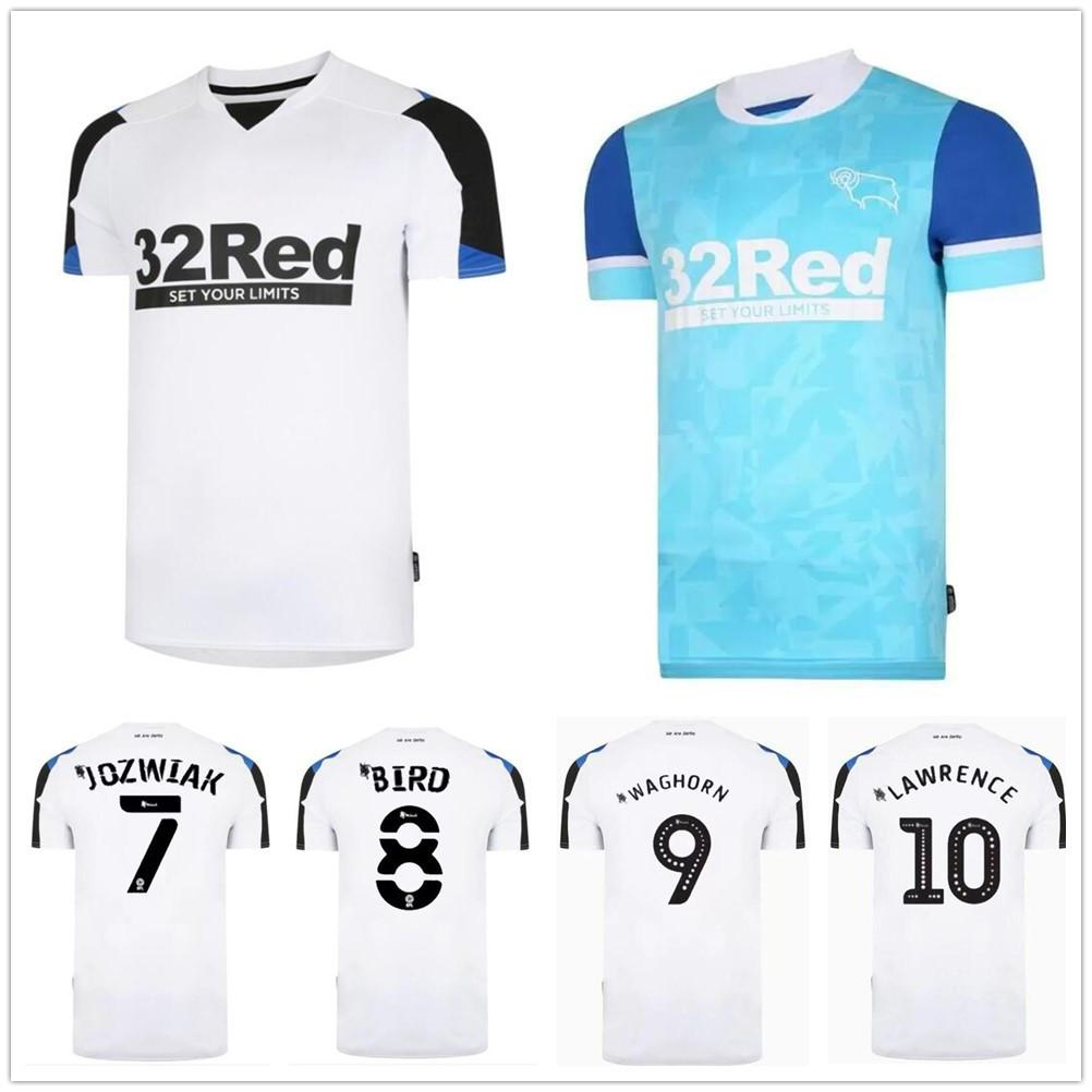 21/22 Derby County Football Club Soccer Jerseys 2021 Casa Away Waghorn Waghorn Martin Soccer Camicia Uniformi Hamer Rooney Football Uniforms