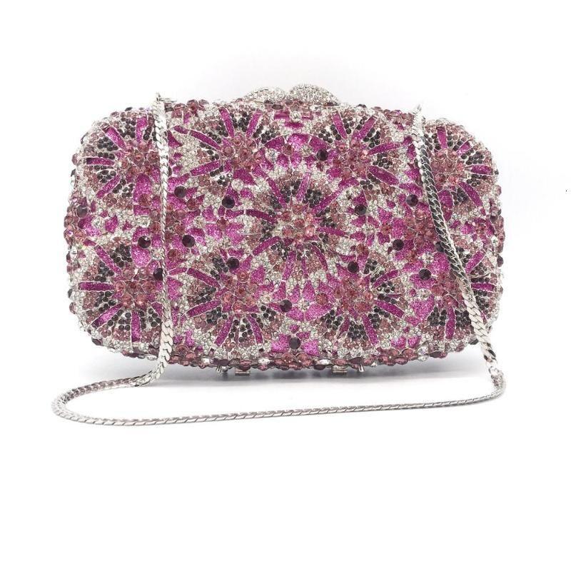 Akşam Çanta Bee Deluxe oyulmuş ve elmas kakma çanta çiçek moda stil kadın çanta1 OGC4