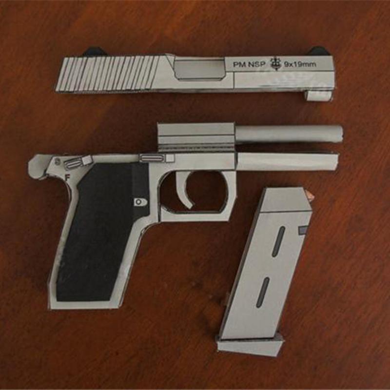 1: 1 مقياس nsp مسدس diy 3d اليدوية ورقة بندقية نموذج لعبة لغز الديكور تجميع للأطفال البالغين مروحة هدية