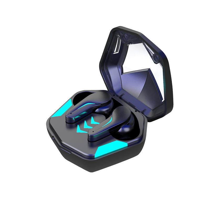 MD188 Headset de jogos TWS Fones de ouvido estéreo sem fio Bluetooth 5.1 Fone de ouvido Cancelamento de ruído Fone de ouvido baixo-latência para smartphone