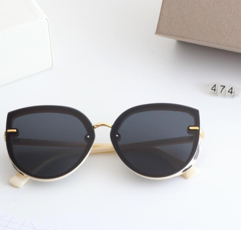 여성 패션 선글라스 브랜드 디자인 UV400 최고 품질 5 색 여행 및 레저 안경 474 야외 검은 거울