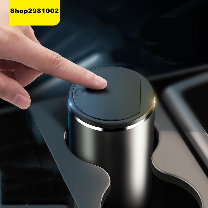 Other Interior Accessories Baseus 2021 Alloy Car Trash Can Auto Organizer Storage Bag Garbage Bin Ashtray Dust Case Holder