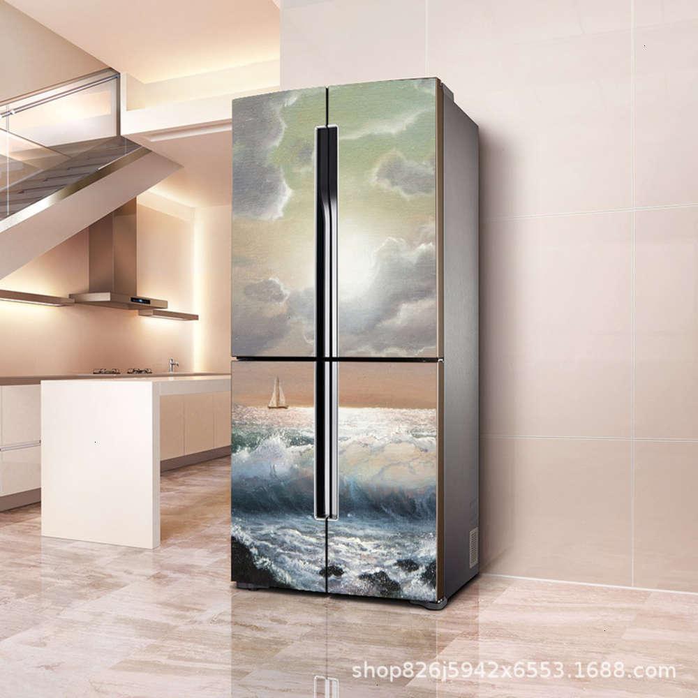 Adesivos decorativos com de renovação frigorífico opaco pvc película impermeável