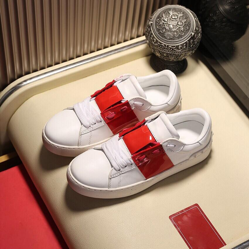 Yüksek Kaliteli Beyaz Deri kadın Rahat Ayakkabılar Lüks Tasarım erkek Düz Ayakkabı Renk Ekleme Kişilik Çiftler Açık Deri Sneakers