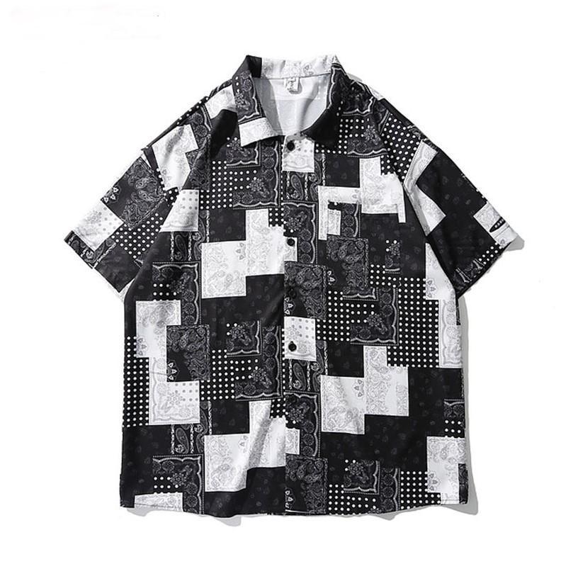 Kiryaquy Men Paisley West Creifs крови моды хлопковые повседневные рубашки рубашки высокого качества карманные короткими рукавами # D23 мужские