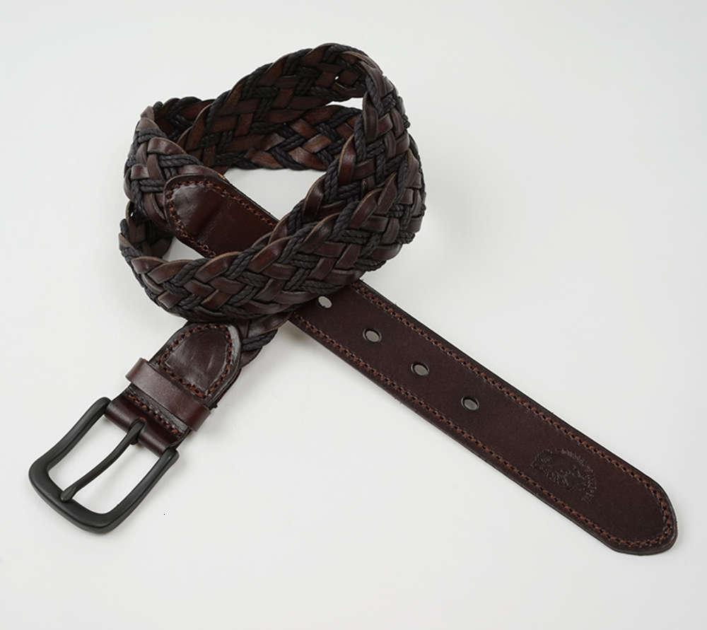 Аксессуары головы кожаный мужской ремень молодежный личностный веревка вязание женской штырьки пряжки универсальные джинсы с модой