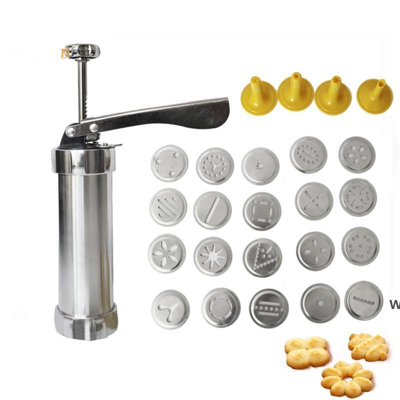 أدوات الخبز دليل بسكويت كوكي الصحافة الطوابع مجموعة أدوات أدوات تزيين الكعكة مع 4 فوهات 20 كوكي قوالب DHD6079