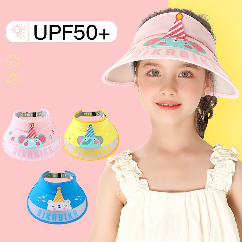 Summer children's empty top cap boys and girls outdoor sports sunshade hat baby sun protection cap cartoon cute sun hat