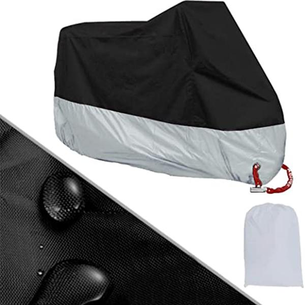 """Motorcycle Cover 210D Waterproof All Weather Outdoor Protection Oxford Durable & Tear Proof Fit for Length 87"""" Motors (L)"""