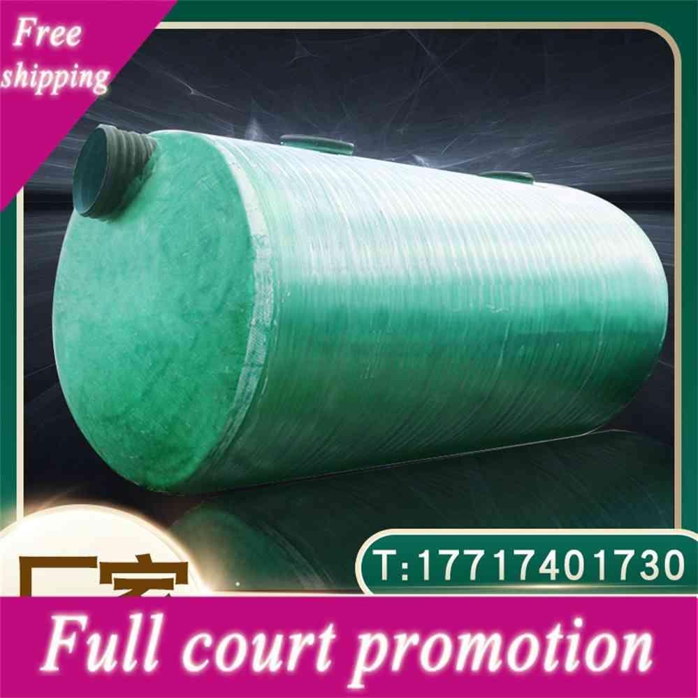 Réservoir de fosse septique en plastique renforcé de fibres de verre Grand Projet de produit fini intégré à trois niveaux cubique