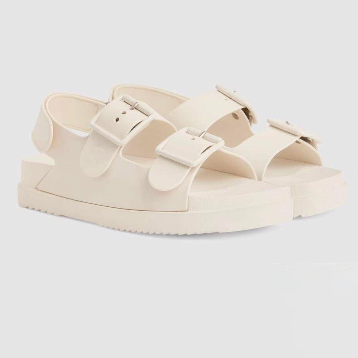 Designer de luxe Femmes Sandales 2021 Mode Été Rose Flats Pantoufles Pantoufles Femme En plein air Slides Casual Slides Chaussures de voyage