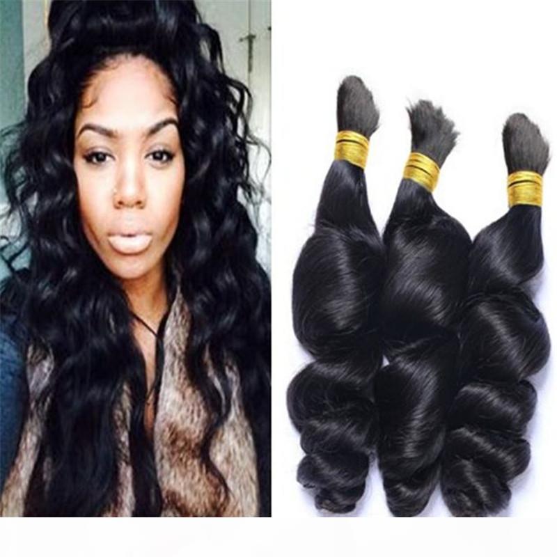Cabelo peruano solto onda trança cabelo humano massa solta encaracolada nenhuma trama cru de trança humana natural cabelo
