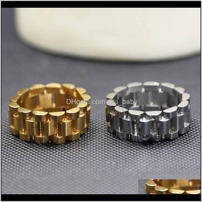 Drop Delivery 2021 Luxury Designer Fashion Band Rings For Womens Mens Watch Watches Style Ring Cuff Bracelet High Quality Stainless Steel Men