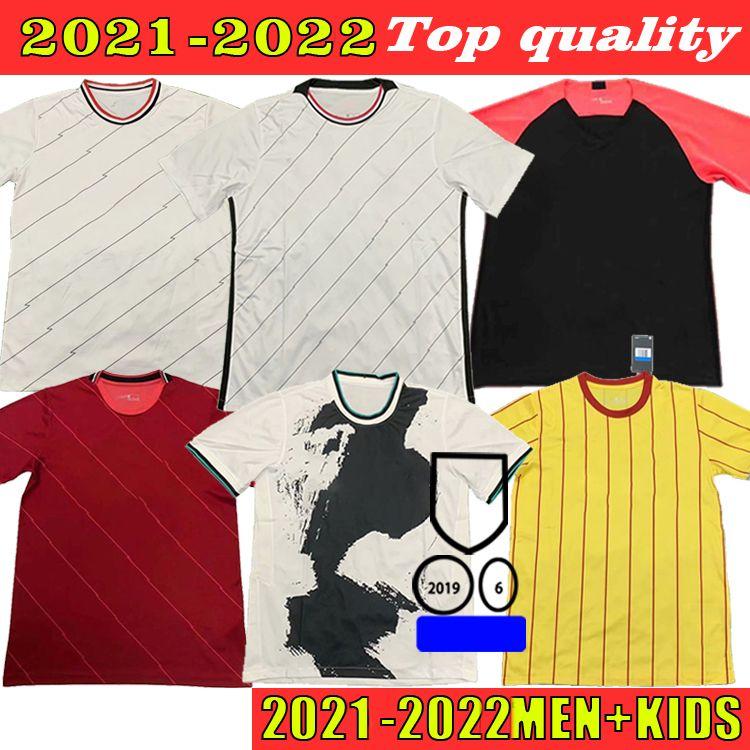 2021 2022 Jersey de fútbol Virgil Firmino Mané M. Salah Henderson Robertson Fans Versión Inicio Aleating Adult + Kids Sports Football Shirt