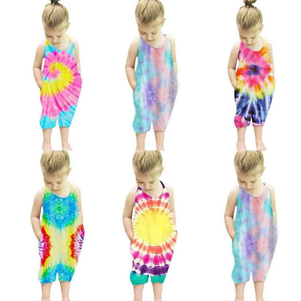 Children's Fashion Printing Rompers Toddler Girls Boys Jumpsuit Sleeveless Summer Kids Overall One Piece bodysuit Casual Clothes G42SX8Z