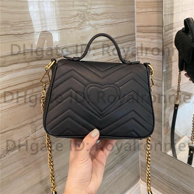Mini classique 2021 luxurys designers sacs à bandoulière chaîne cuir taille petite taille 17cm sacs à main fille Fashion Femmes Cross Cross Body Crossbody métallique Bandbodyottes d'amour sac à main