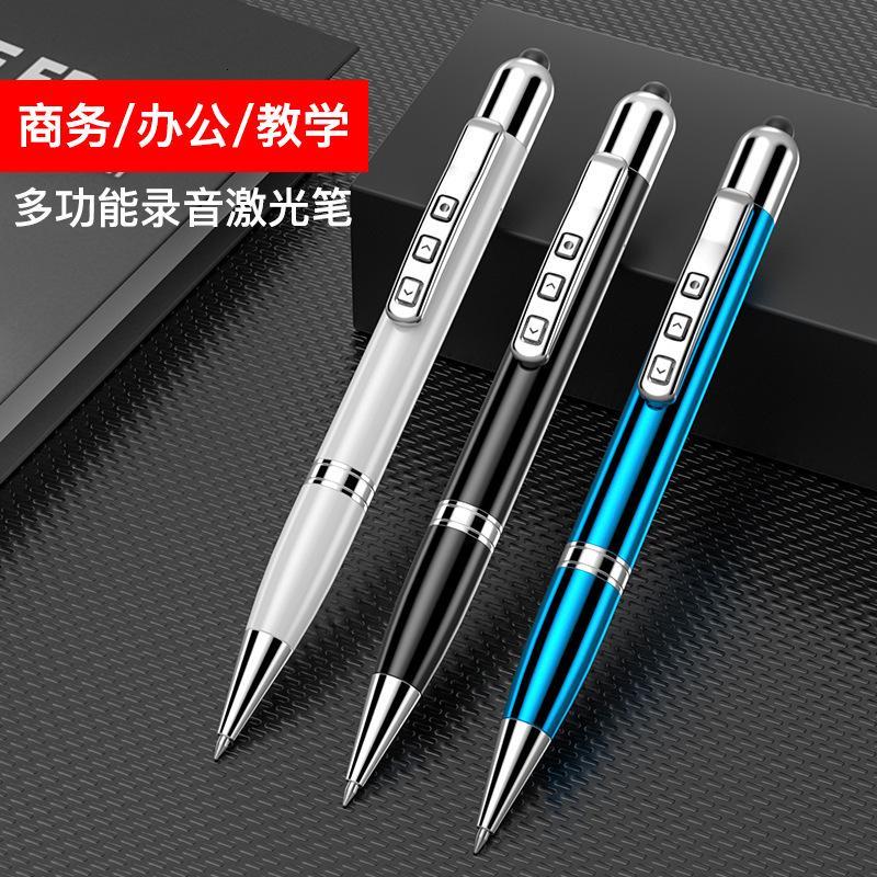 Lápiz de metal táctil, lápiz con capacitancia láser, puntero electrónico, grabadora, disco flash USB, bolígrafo de bolas 6 en 1