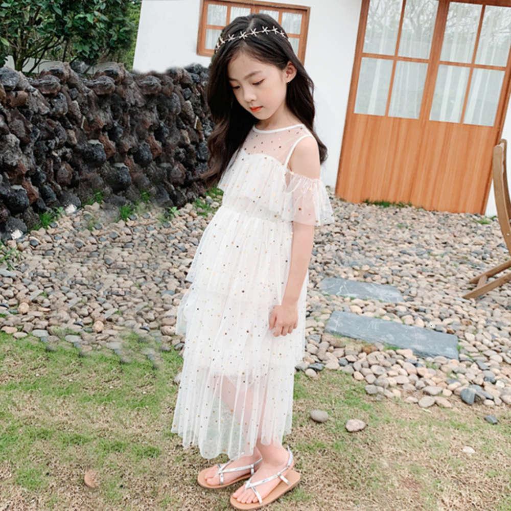 Девушки платья физические стрельбы Корейский летний звездный экран девочка Drs Ins Medium и большая детская юбка SVE Fairy Princs